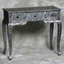black embossed table