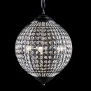 medium black globe chandelier