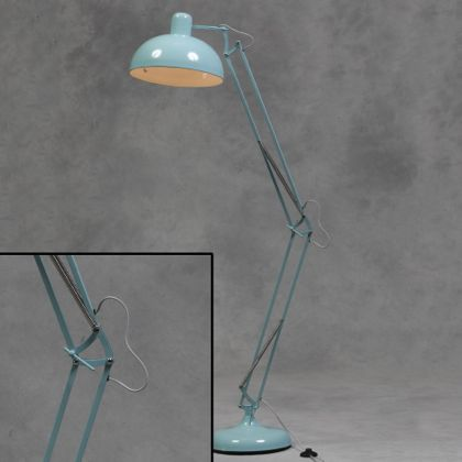 Blue floor lamp angle poise retro vintage lamp industrial lighting blue floor lamp mozeypictures Images