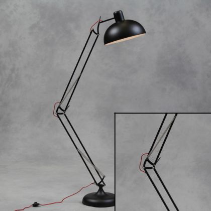 Black floor lamp angle poise industrial lighting home decor interiors black floor lamp angle poise mozeypictures Images