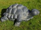 large garden tortoise ornament statue made of resin finished in grey
