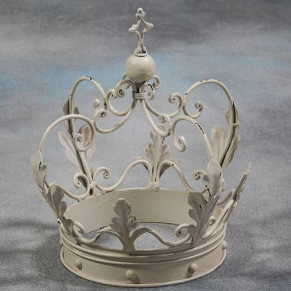 White crown ornament table decor gift luxury quirky for Quirky ornaments uk