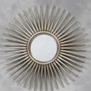 silver sunburst mirror large spiky shape