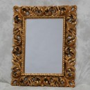 ornate gold rectangular mirror large frame classic colour