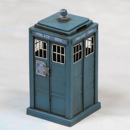 Police money box vintage metal blue tardis ornament home decor interiors - Tardis piggy bank ...