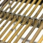 This is a picture of the detail of the natural rattan/wicker