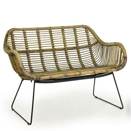 Wonderful retro styling and super quality make this rattan sofa a must have this year! H77 x W106 x D63cm, seat height 41cm. Great quality, superb value
