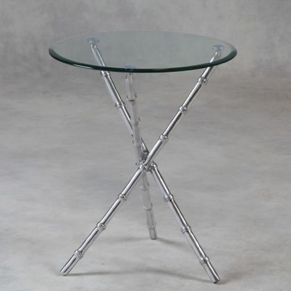 silver bamboo glass table is fabulously styled