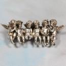 silver sitting angels 9 x 13 x 35cm