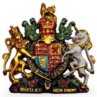Small coat of arms plaque is a must have for all you royalists out there! Hand finished on resin. Lightweight .17 x 16 x 2cm