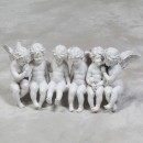 large white sitting cherubs