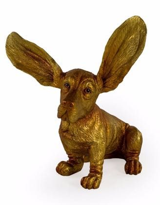 This is Gloria, our new gold basset ornament. She needs a new home, can you help her? 37 x 30 x 26cm. Siblings in other colours available too!