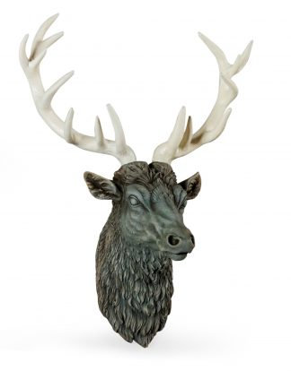 This magnificent stone effect stag head wall decor will be a great focal point in any room. 84 x 32 x 62 cm, great value for money!