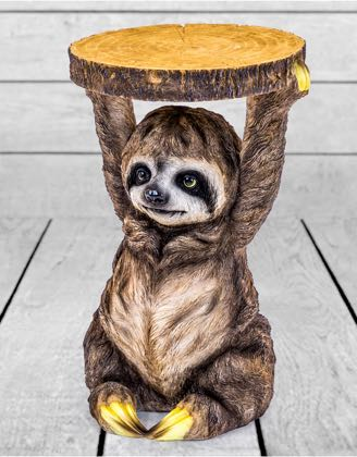 Add a playful wildlife twist to your home with the contemporary Sloth side table. Made of resin, beautifully detailed H52 x W32.5x D32.5cm.