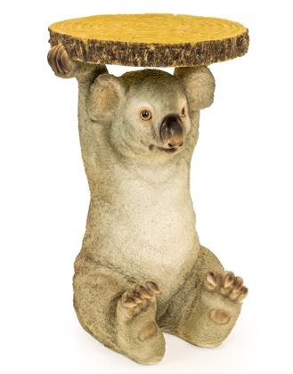 Why not add a playful wildlife twist to your home with Kimi our Koala side table. Kimi is made of resin, hand finished and is very lifelike. 52 x 33 x 3cm.