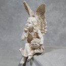 super detailed cream sitting angel measures 40 x 17 x 20cm and so well detailed and textured