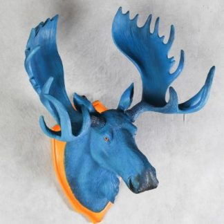 Electric Blue Moose Head wall hanging
