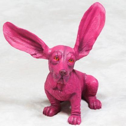 Shocking Pink Basset Hound ornament