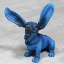 Electric Blue Basset Hound Ornament