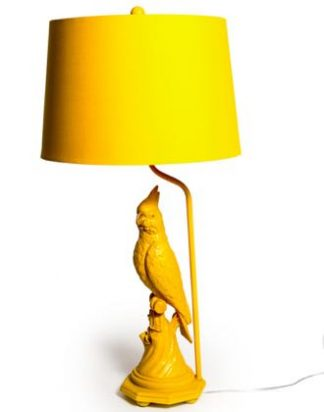 Meet Max our stylish mustard yellow parrot lamp who will add a sunny vibe to any home! 76 x 38 x 38cm. Texture and detailing are superb.