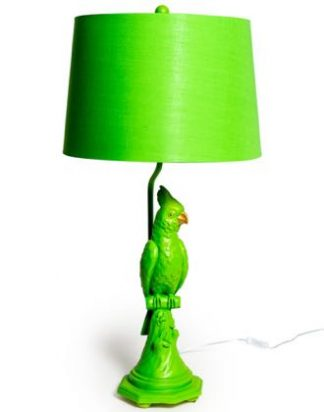 Meet Graham, our vibrant green parrot lamp who will add a sunny vibe to any home! 76 x 38 x 38cm. Texture and detailing are superb.