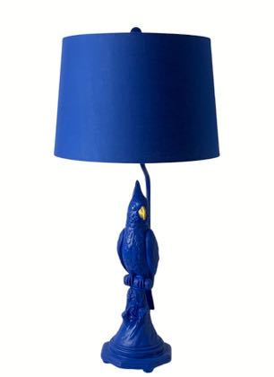 Meet Barry, our blue parrot lamp who will add a ping of colour to any home! 76 x 38 x 38cm. Texture and detailing are superb.