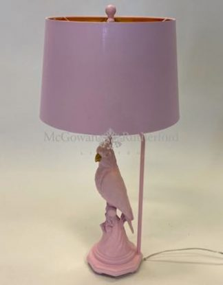 Meet Pablo, our pink parrot lamp who will add azping of colour to any home! 76 x 38 x 38cm. Texture and detailing are superb.
