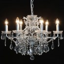 medium silver shallow chandelier 6 branches