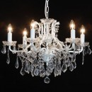 Elegance and style with this crackle effect ivory shallow chandelier 6 branch! Great colour and finish too! 48 x 64 x 64cm