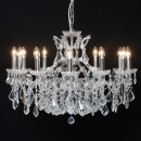 large chrome shallow chandelier 12 branches