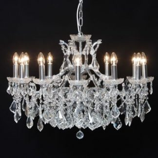 Be dazzled in your home with this stunning chrome shallow chandelier 12 branch, it has everything, quality, style, elegance…Measures 62 x 88 x 88cm