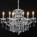 This medium sized chrome shallow chandelier 6 branch works brilliantly in any home and blends seamlessly into any scheme. Measures 48 x 64 x 64cm