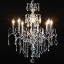 Get a load of this amazing chrome french chandelier 8 branch! Visually amazing, dripping with elegance. Measures 70 x 60 x 60cm
