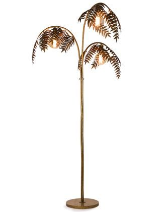 What a wow this gold palm tree floor lamp is. Measures 186 x 96 x 96cm. Superb, stylish, elegant, quirky, contemporary, unique,handfinished and great value!