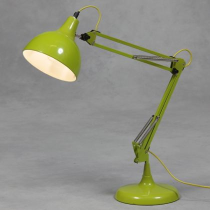 Lime Green Desk Lamp Retro Lighting Industrial Angle Poise Desk Light