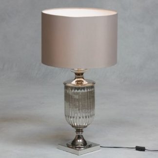 silver urn lamp stylish with drum shade