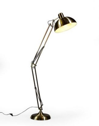 This superb gold floor lamp is simply stunning. What a colour! Measures H190 x W36 x D36cm, a versatile size and great value! Matching desk lamp.