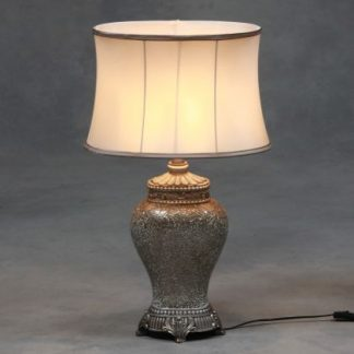 large champagne mosaic lamp