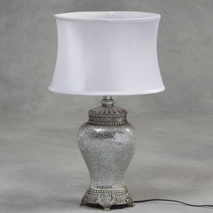 white mosaic lamp