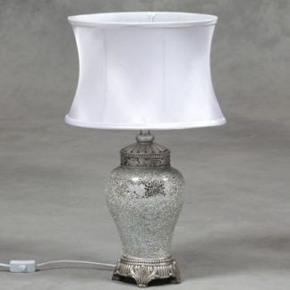 small white mosaic lamp