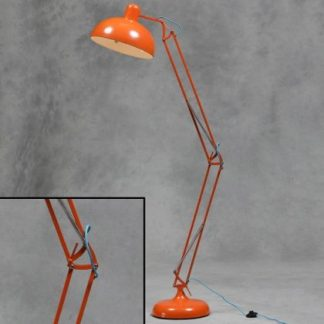 orange floor lamp angle poise style
