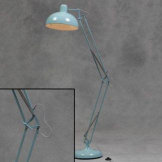 Blue Floor Lamp Angle Poise Retro Vintage Industrial Light Value
