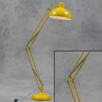 yellow floor lamp angle poise