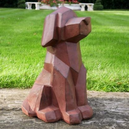 Meet our geometric dog ornament who is a stylish sitting pooch - ideal inside or out. All angles but very loveable. Great gift 50 x 30 x 30cm