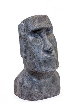 This easter Island garden ornament is a superb head that is made of resin. Great stone effect. Superb summer style. 38 x 61 x 31cm