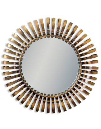 A beautiful, unique, Antique bronze framed large round mirror. So bold and impressive, a real statement. 95 x 95 x 8cm