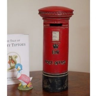 This vintage red post box money box has authentic detailing and a superb finish. A good size to fit anywhere and the perfect gift for any child, whether young or old! Measures 23 x 10 x 10cm and is great value for money.