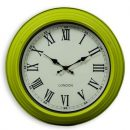 This 31cm lime green kitchen clock makes any room look stylish. Glossy frame, cream face, black hands and Roman numerals. Cheap and cheerful! 31 x 31 x 9cm