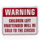 children at circus enamel sign measures 30 x 39 x 1.5cm