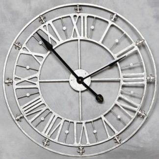 silver skeleton clock